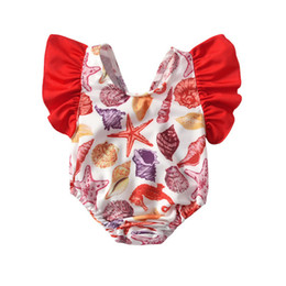 Girls Swimwear One-pieces Sweet Swimsuit Floral Printing Swim Clothing Summer Kids Beach Clothing