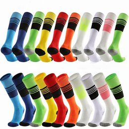New wild football socks long tube thick football suit with ball 10 color towel bottom ball socks over knee sports ball socks