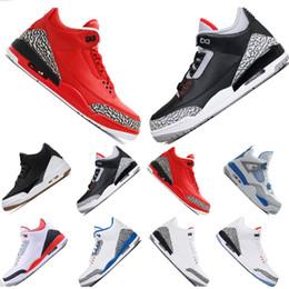 [caja] Comercio al por mayor de cemento blanco negro zapatos de baloncesto Tinker infrarrojos 23 lobo gris Grateful Katrina rojo zapatos de los hombres al aire libre zapatillas de deporte