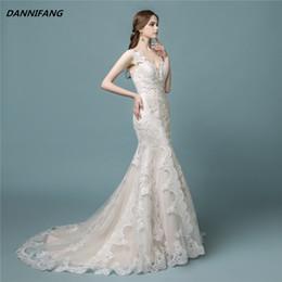 Vestidos De Novia 2018 Bridal Gowns Vintage Sexy Mermaid Wedding Dresses 2018 Boho Lace Wedding Dress Robe De Mariee