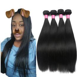 Brazilian Hair Straight Weave Bundles Unprocessed Virgin Brazillian Peruvian Indian Malaysian Straight Remy Human Hair Extensions Soft Full