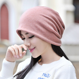 Fashion Casual Hat Scarf Dual Purpose Hats Winter Warm Outdoor Sport Ski Unisex Solid Color Caps