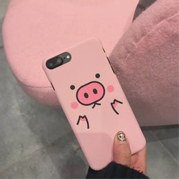 Cute Pink pig Phone cases Women lovely Soft Cartoon iphone cases for iphone 6 7 X