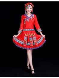 Miao nationality clothing China Guizhou new Ethnic minority dance square dance set costumes