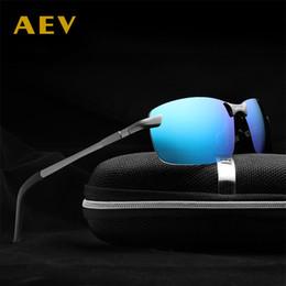 2018 hot mens aluminum magnesium alloy full frame polarized sunglasses fashion Polarised men car driving glasses goggles A3043