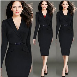 Long Sleeves V Neck Women Dresses Slim Fit Dresses For Lady Sexy Women Clothes Pencil Dress Casual Dresses