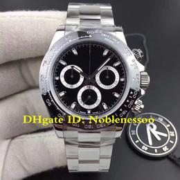 5 Style New 904L Steel Ceramic Bezel Chronograph Watch black 116500LN 116520 CAL.4130 Movement Automatic Watche