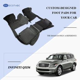SCOTABC Custom-Fit Car Foot Pads All Weather Leather Car Floor Mats for Infiiniti QX56 4 colors Waterproof Anti-slip 3D Front & Rear Carpets