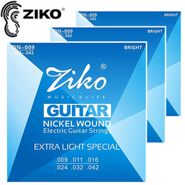 3sets lot .009-.042 ZIKO strings guitar accessories for Electric Guitar strings guitar parts