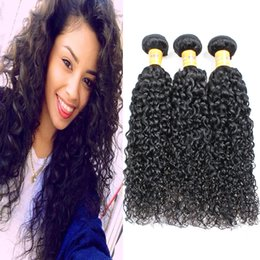 Afro Kinky Curly Hair Extensions Remy Curly Weave Human Hair Bundles 3 4 pcs Kinky Curly 7A Unprocessed Brazilian Virgin Hair Black Women