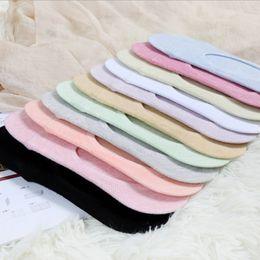 New summer pure cotton ladies light mouth socks Silicone non-slip female socks wholesale antibacterial deodorant invisible socks