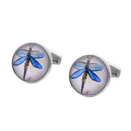 New Spot Blue French cufflinks pattern insect series exquisite high-end Cuff nails business gifts Free shipping