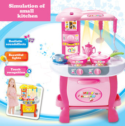 Children play kitchen toys suit The light sound realistic can cook eat Very popular with girls