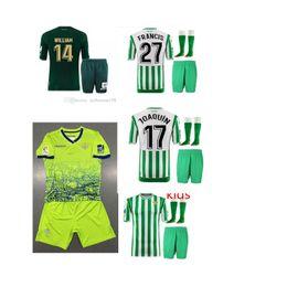 2018 2019 Camiseta de fútbol de Betis REAL HOGAR visitante 18 19 JOAQUIN BOUDEBOUZ MANDI BARTRA TELLO INUI JAVI GARCIA CANALES jerseys niños CAMISAS
