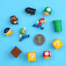 Funny Super Mario Game 3D PVC Fridge Magnet Note Posted Sticker Gift 10pc of Set Creative 3D Super Mario Fridge Magnet   Freely Combine Gift