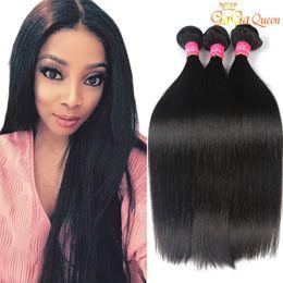 Gaga Queen Hair 8a Peruvian Malaysian Indian Brazilian Straight Virgin Hair Extensions Unprocessed Human Hair Weave Bundles Nature Color