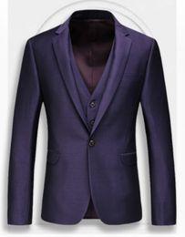 (jacket+pants+vest) New brand men suit wedding suit for man spring autumn casual slim fit groom party male dress suit
