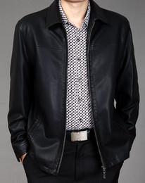 2018 leather jacket men genuine leather men's clothing casual turn-down collar medium-long leather clothing jacket