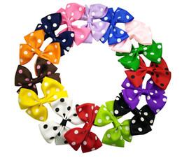 "3.5"" Ribbon Polka Dot Pinwheel Baby children clip hair Bows hairbow headwear 30pcs"