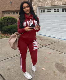 2018 Letter Printed Two Piece Set top and Pants Women Tracksuit Spring Plus Size XXXL Casual Outfit Sweatshirt Women Sweatsuits