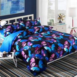 Wannaus New 3D Bed Set 60S Cotton High Quality Migical Butterflies Printed 4-Piece Duvet Covers set Comforter Cover set