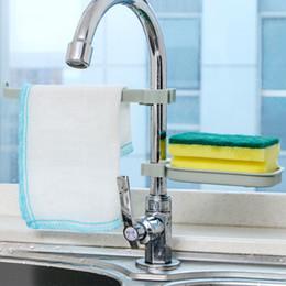 Sink hanging rack towel rack fresh PP bathroom towel shelves soap holder kitchen dish cloth sponge holder storage organization