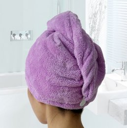 1PC 5Colors Women Bathroom Super Strong Absorbent Quick-drying Microfiber Bath Towel Special Dry Hair Cap Salon Towel