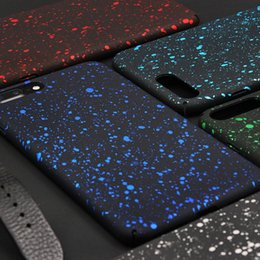 Bling Fluorescence Stars Starry Sky Case 3D Ultra Thin Slim Flowing Frosted Visual Effect Hard PC Cover For iPhone XS Max XR X 8 7 6 6S Plus