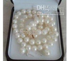 8mm white freshwater pearl necklace earrings sets dfe