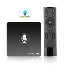 A95X PRO Voice Control TV Box Android 7.1 Smart TV Box Quad Core 2GB RAM 16GB ROM Androidtv Google OS Smart Media Player