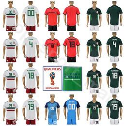 Mexico 2018 World Cup Mexican Soccer Jersey Set 4 Rafael Marquez 18 Andres  Guardado Football Shirt Kits 19 Oribe Peralta With Short Pant f67ccaa14