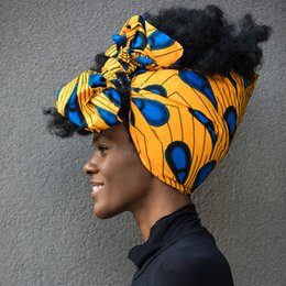 African Head Wraps Extra Long 72x22 African Wax Print Head Scarf Tie for Women