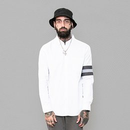 Foreign Trade Spring Men's Wear Long Sleeve Shirt Male The Wind In Hong Kong Pure Cotton Shirt Man Long Sleeve Self-cultivation Type Shirt