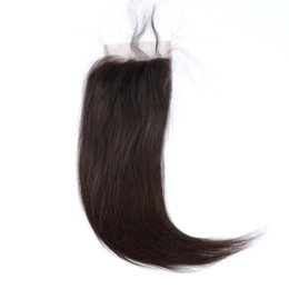 "Brazilian Top Grade Free Part Lace Closure (4x4"") 100% Virgin Human Hair Top Closures Medium Brown Lace Color"
