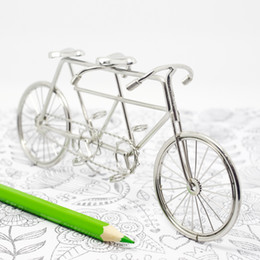 J1 TANDEM BIKE BICYCLE DESK STUDY NOVELTY DECORATIONS STAINLESS HAND-MADE ART CRAFTS WEDDING BIRTHDAY HOME GARDEN OFFICE GIFT PRESENT CUTE