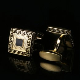 New Great Wall Gold and European French Cufflinks Men's Shirt Cufflinks Free Shipping