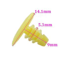 Auto Car Door Seal Weatherstrip Clip Plug Rivet yellow plastics sealing screw trim clasp fastener snap retainer