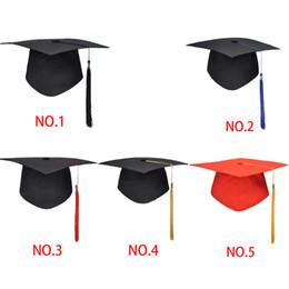 School Graduation Party Tassels Cap Mortarboard University Bachelors Master Doctor Academic Hat Student graduation hat photos free shipping