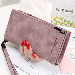 Hot sell female wallet zipper fastener and simple hand bag student money clip antique style new mobile phone bag