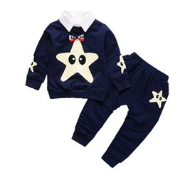 2018 Fashion Baby Clothes Children Boys Girls Removable Collar T-shirt Pants 2Pcs Sets Kids Cartoon Clothing Sets Tracksuits