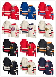 Custom Hockey Hoodie Pullover Chicago Blackhawks Vegas Golden Knights Washington Capitals Montreal Canadiens New York Islanders Top Quality