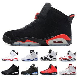 Cheap 6 Men Basketball Shoes 6s unc black cat sport blue Infrared white Maroon Alternate red Oreo mens trainers shoes Sneakers us 8-13