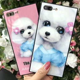 Cell Phone Case For iPhone X 8 7 7Plus Square TPU Poodle Pattern Cell Phone Shell For iphone 6 6s Plus Mobile Phone Cover