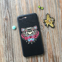 For iphone 6 Tiger Pattern Phone Case for Apple iphone 7 Plus Flower Pattern Shockproof TPU Cover for iphone X OEM is welcome