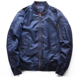 Men's autumn coat 2018 Air Force flight jacket, men's jacket tide Pure color air force jacket