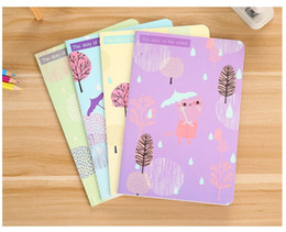 New Products Kawaii Lonely Cat A5 Car Line Student Notepad Soft copybook 30 pages Korean Gift Stationery