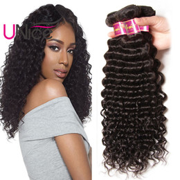 UNice Hair Malaysian 8A Remy Deep Wave 5 Bundles Unprocessed Virgin 100% Human Hair Extensions Wholesale Nice Curl Hair Weave Bundles Cheap