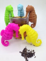 New creative Silicone Teabag Sea Horse style Silicone Infuser Tea Leaf Strainer Loose Herbal Spice Filter Diffuser Coffee Tea Tools
