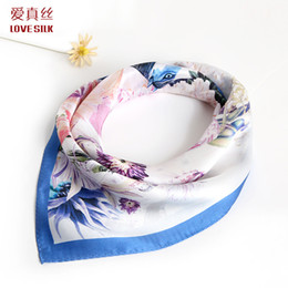 2018 53*53cm Ladies art and fashion silk scarves.100% pure Mulberry silk from suzhou,Fashion gift scarf