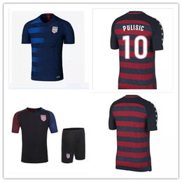 Promotion men And USA size 2017 2018 PULISIC United States Gold Cup Red Soccer Jersey 17 18 DEMPSEY BRADLEY ALTIDORE WOOD Footbll Shir